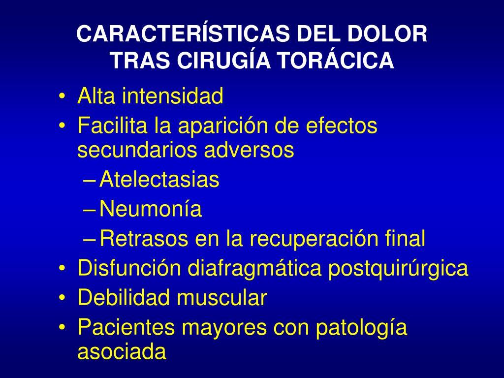 CARACTERÍSTICAS DEL DOLOR