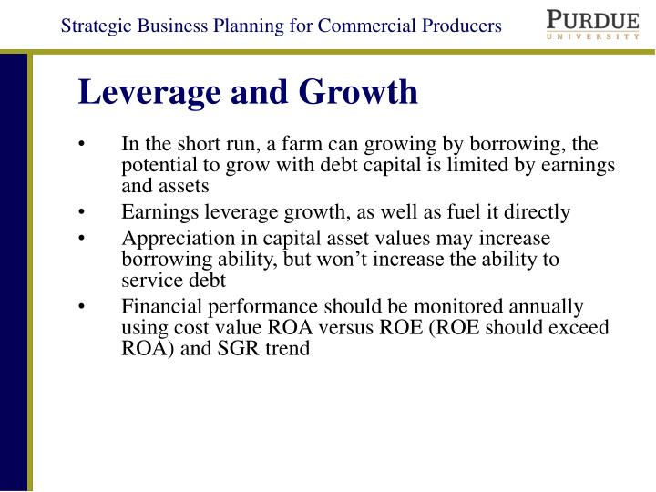 Leverage and Growth