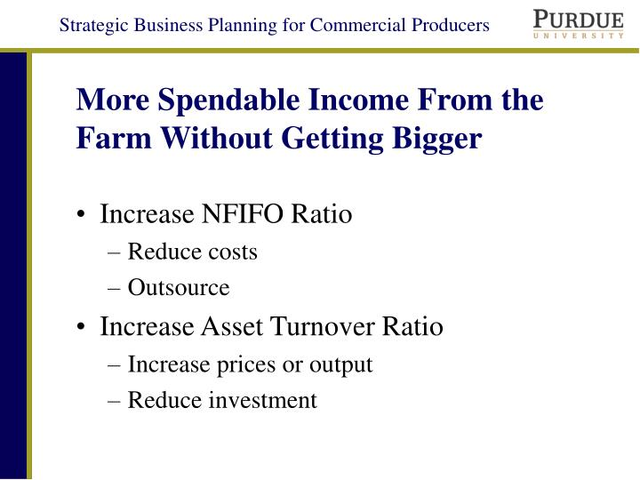 More Spendable Income From the Farm Without Getting Bigger