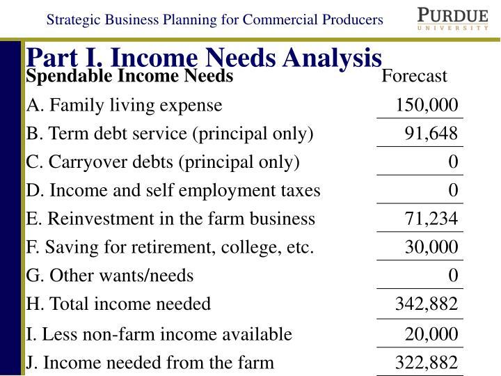 Part I. Income Needs Analysis