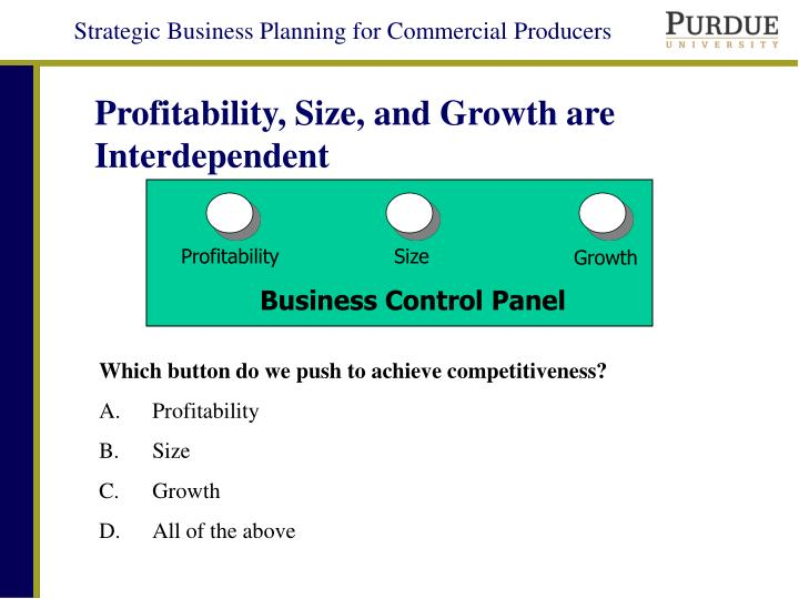 Profitability, Size, and Growth are Interdependent