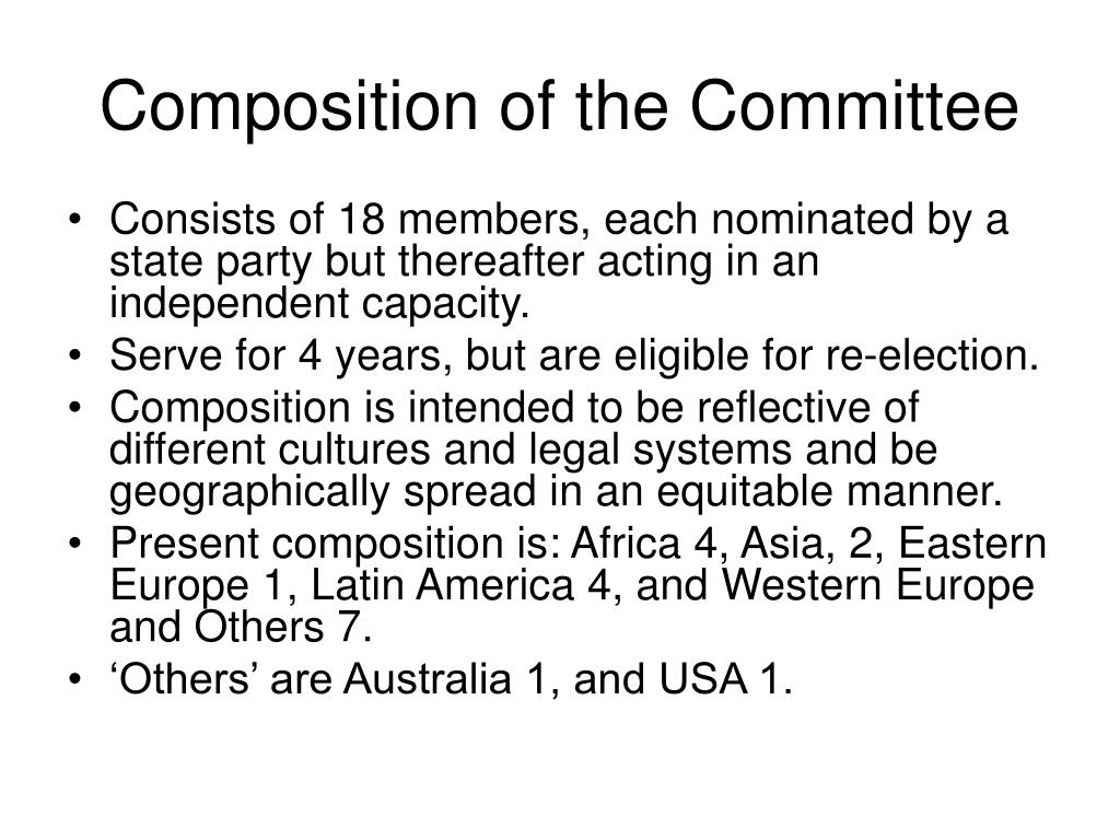 Composition of the Committee