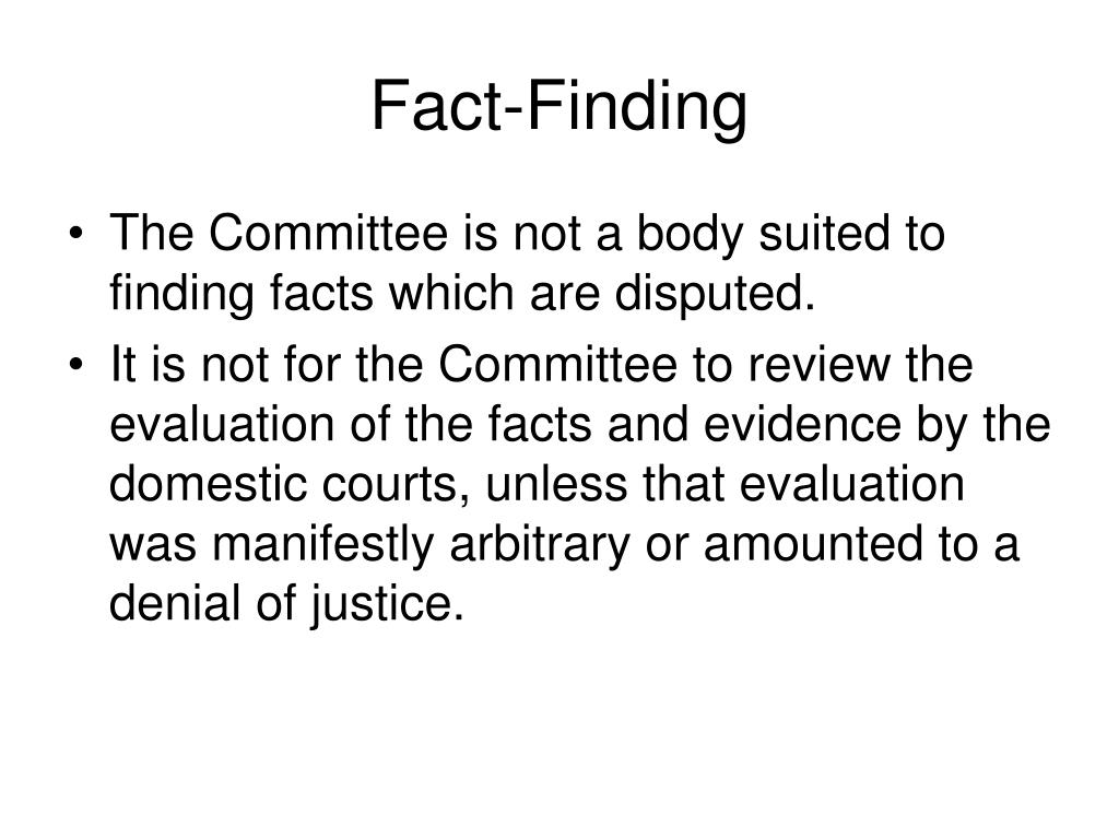 Fact-Finding