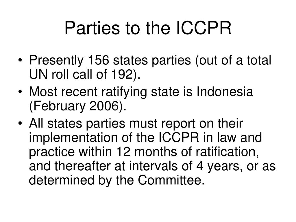 Parties to the ICCPR