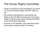 the human rights committee2