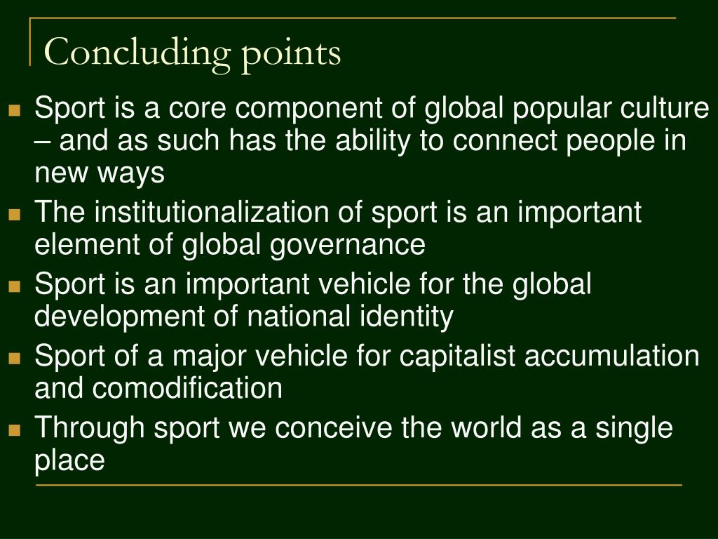 Concluding points