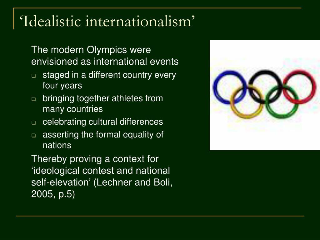 'Idealistic internationalism'