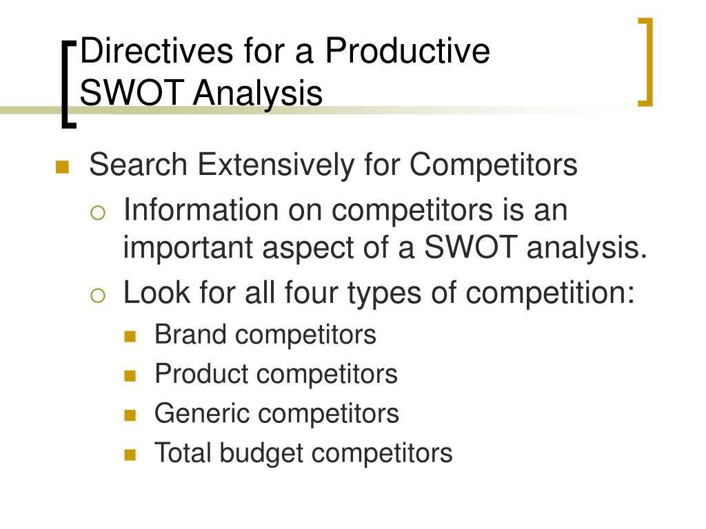 Search Extensively for Competitors