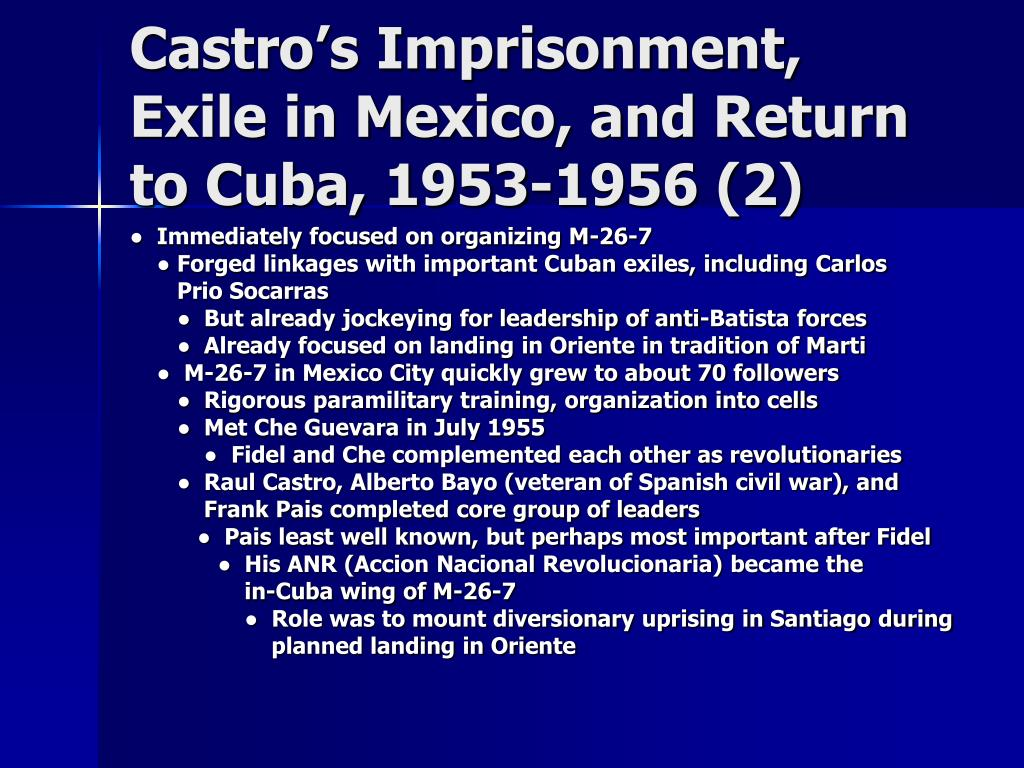 Castro's Imprisonment, Exile in Mexico, and Return to Cuba, 1953-1956 (2)