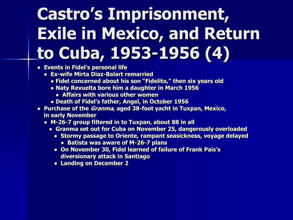 Castro's Imprisonment, Exile in Mexico, and Return to Cuba, 1953-1956 (4)