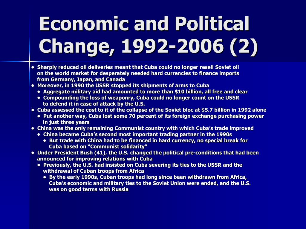 Economic and Political Change, 1992-2006 (2)