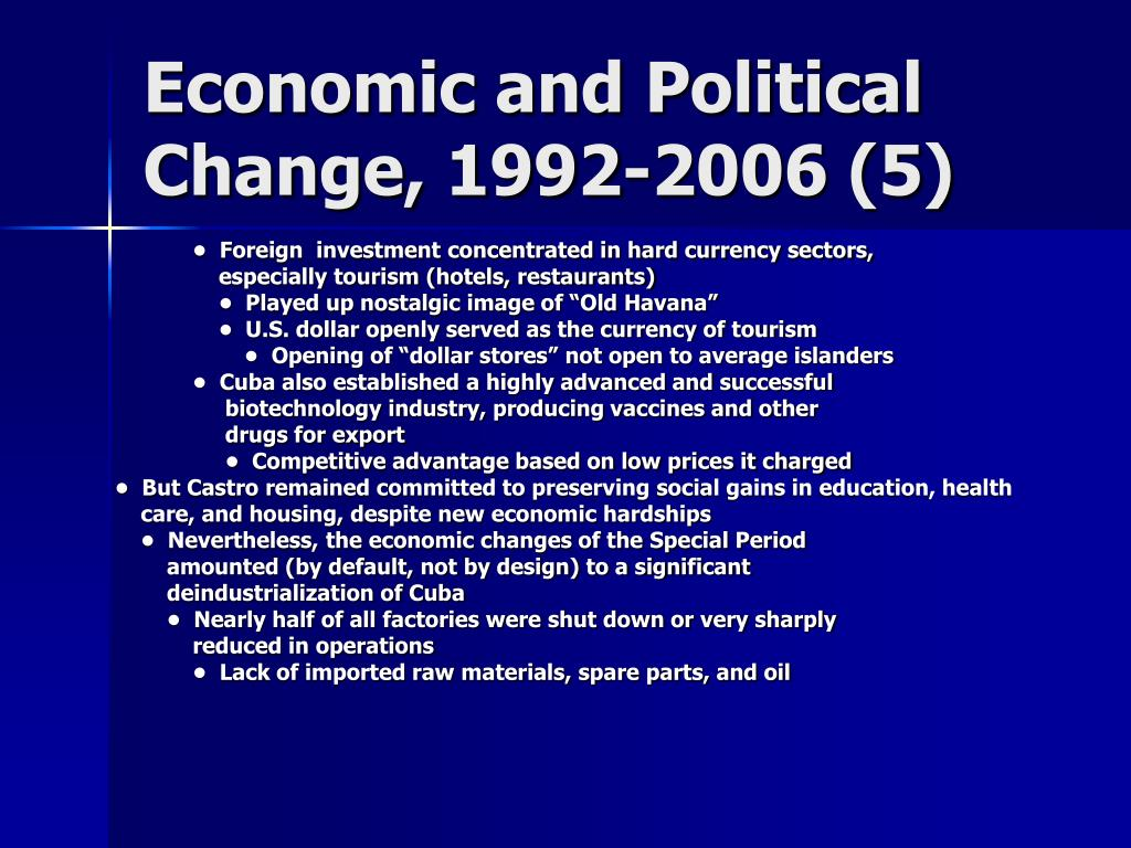 Economic and Political Change, 1992-2006 (5)