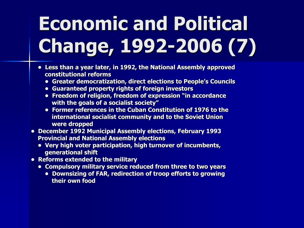 Economic and Political Change, 1992-2006 (7)