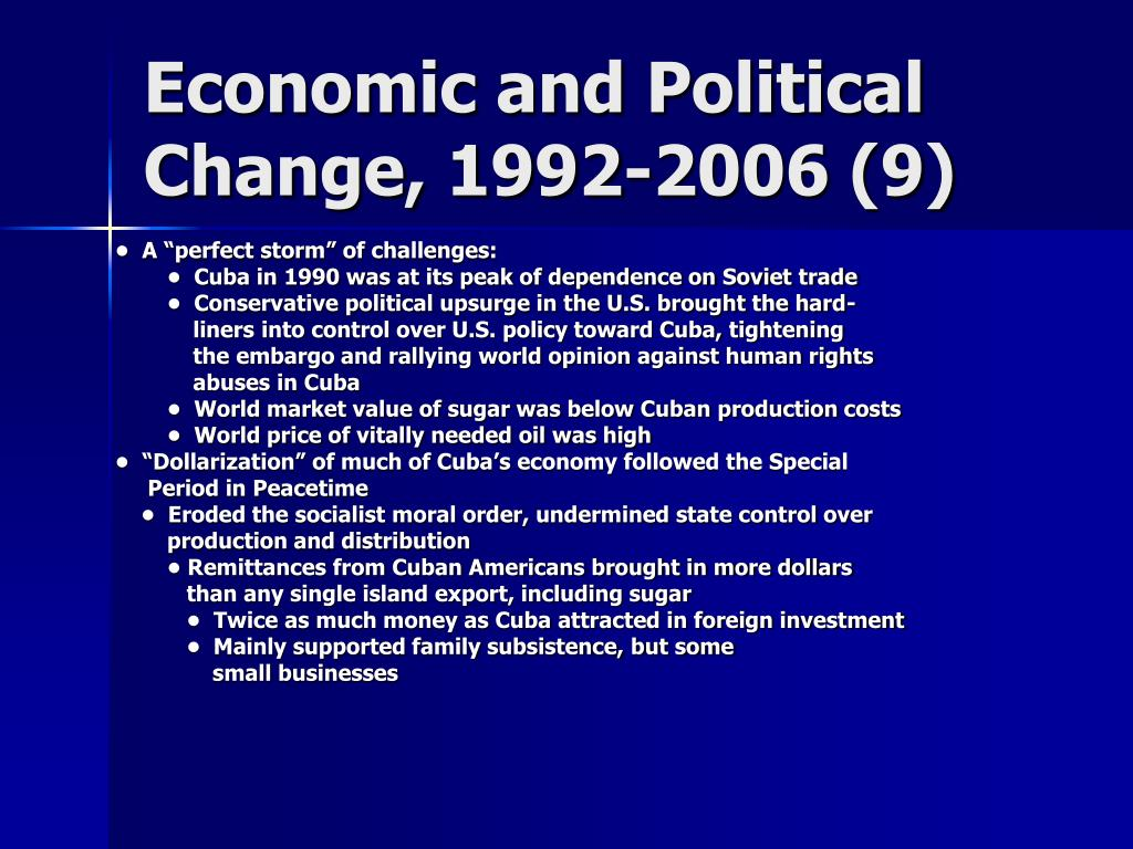 Economic and Political Change, 1992-2006 (9)
