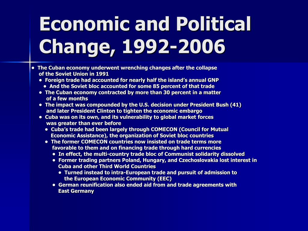 Economic and Political Change, 1992-2006