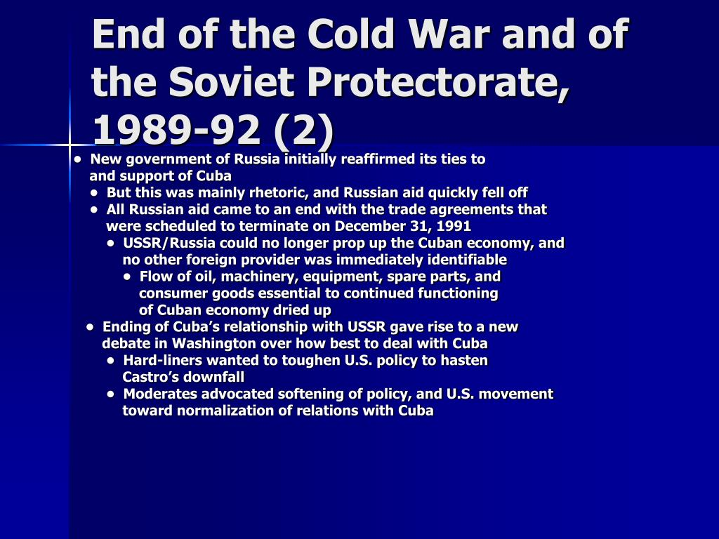 End of the Cold War and of the Soviet Protectorate, 1989-92 (2)