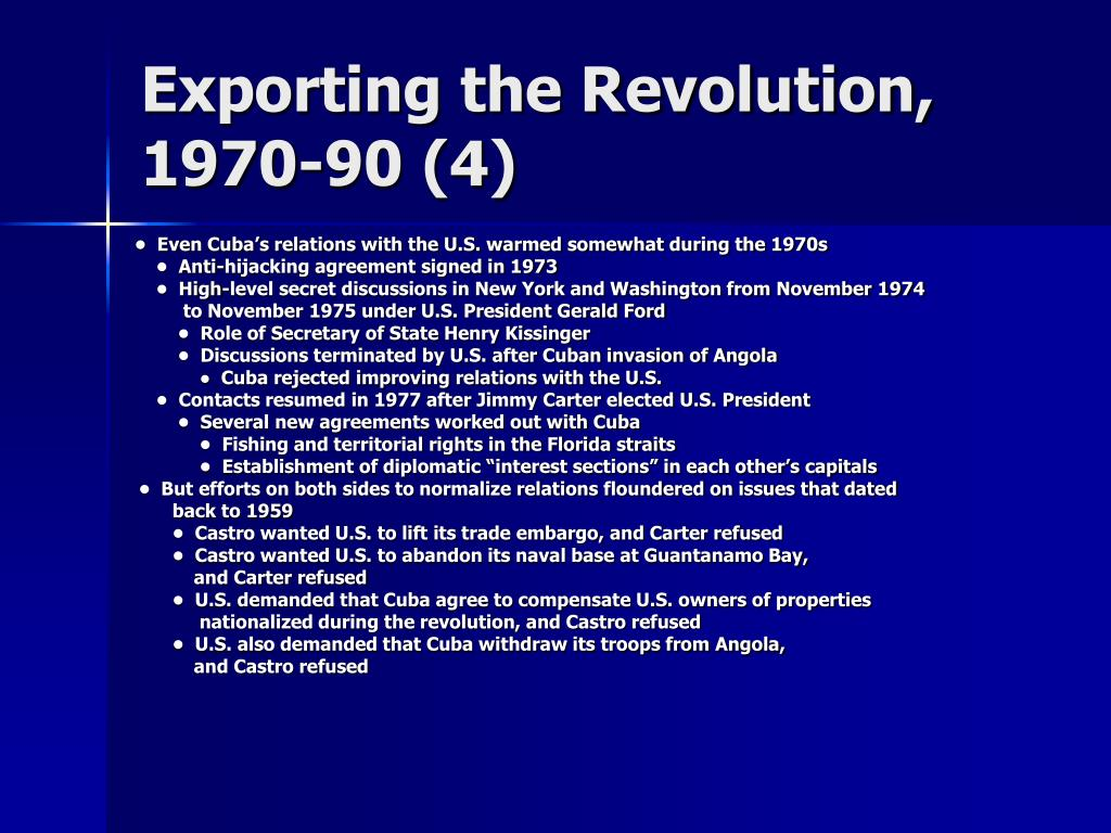 Exporting the Revolution, 1970-90 (4)