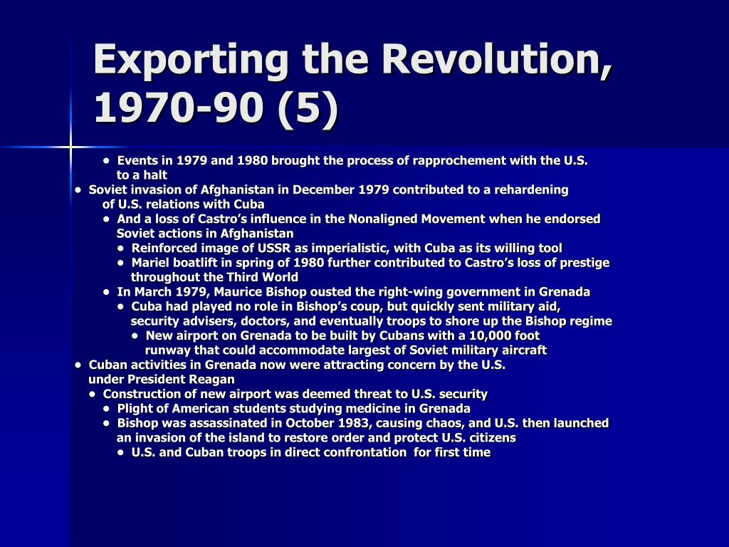 Exporting the Revolution, 1970-90 (5)