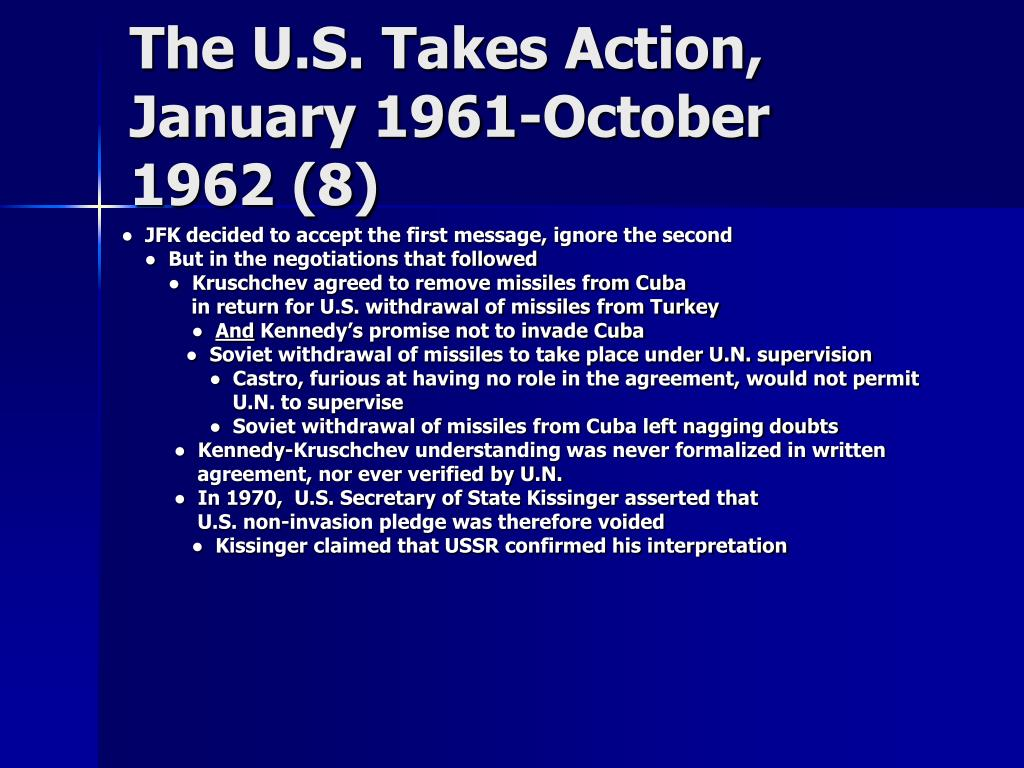 The U.S. Takes Action,