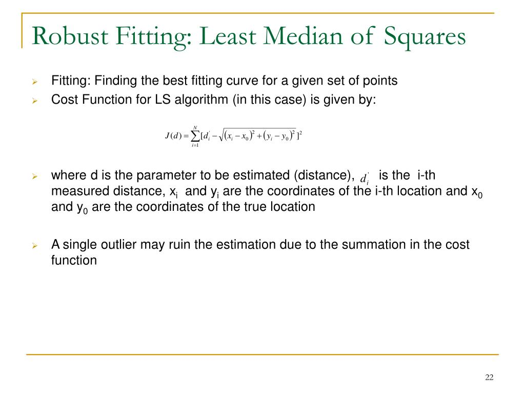 Robust Fitting: Least Median of Squares