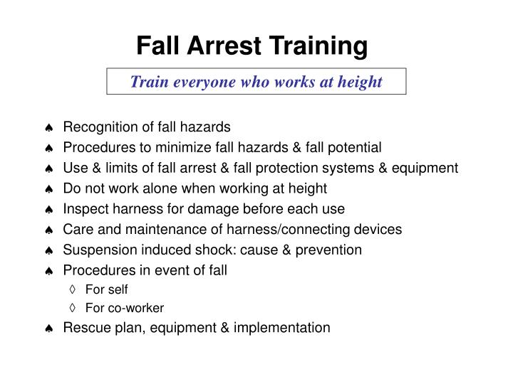 Fall Arrest Training