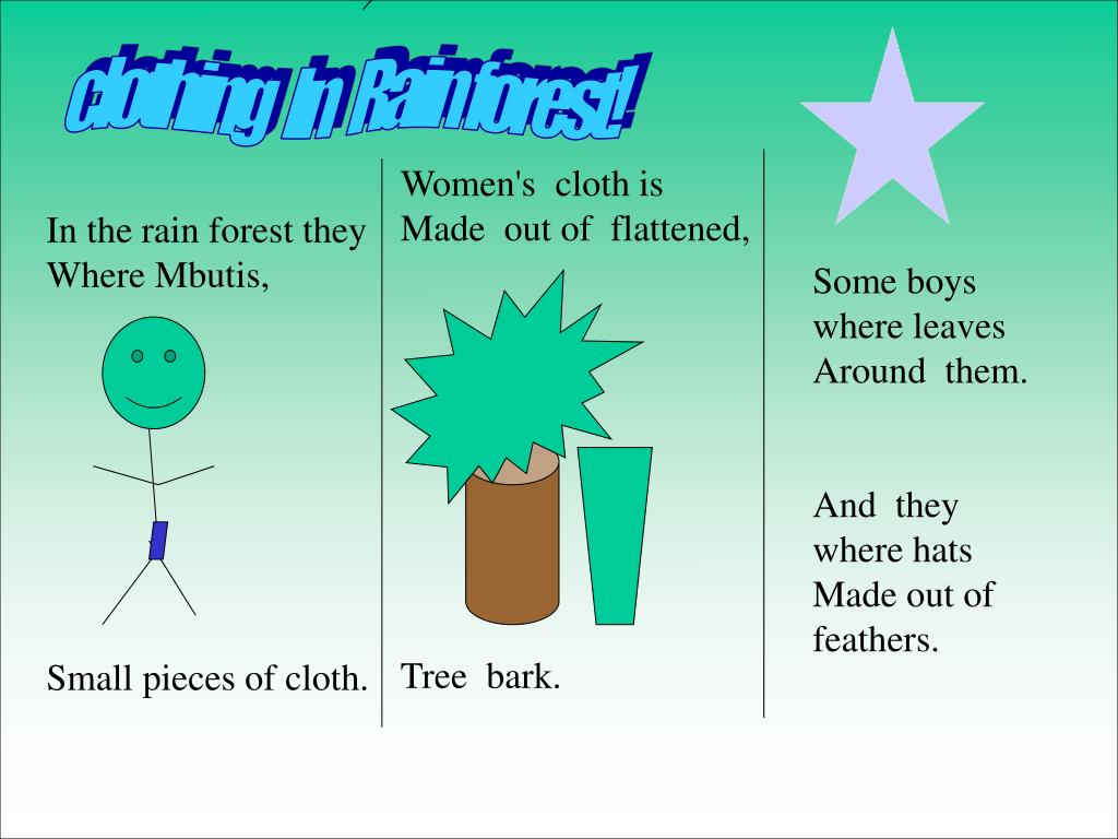 clothing   In   Rain forest!