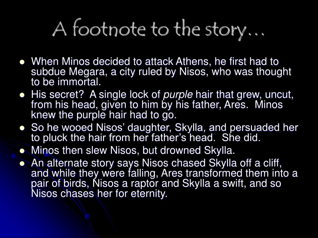 A footnote to the story…