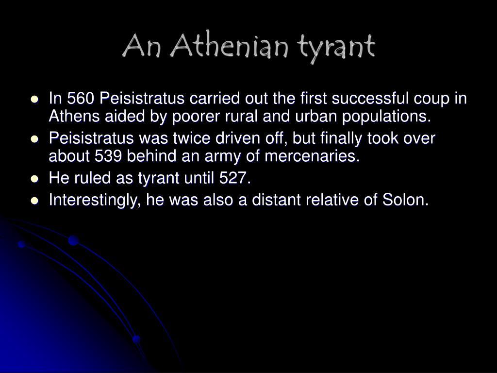 An Athenian tyrant