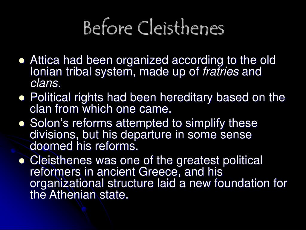 Before Cleisthenes