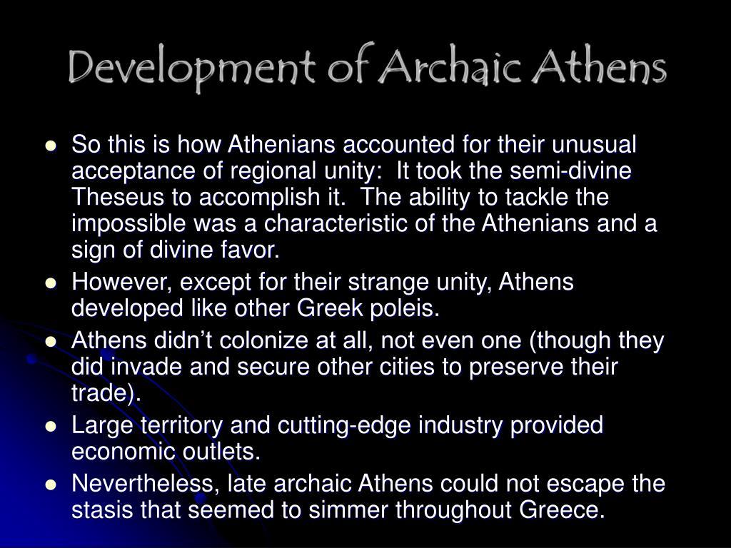 Development of Archaic Athens