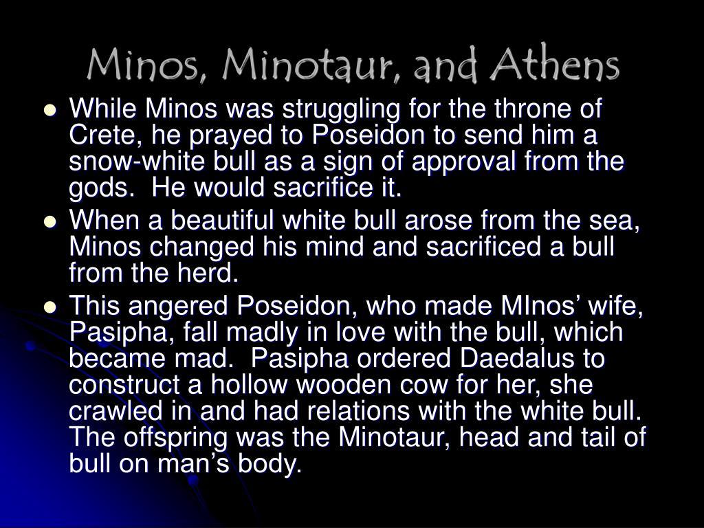 Minos, Minotaur, and Athens