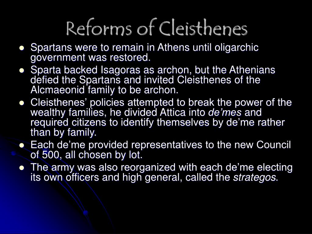 Reforms of Cleisthenes