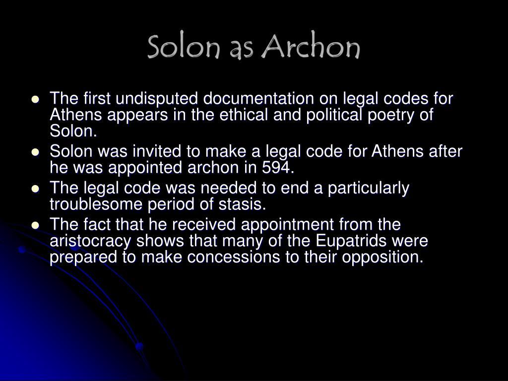 Solon as Archon