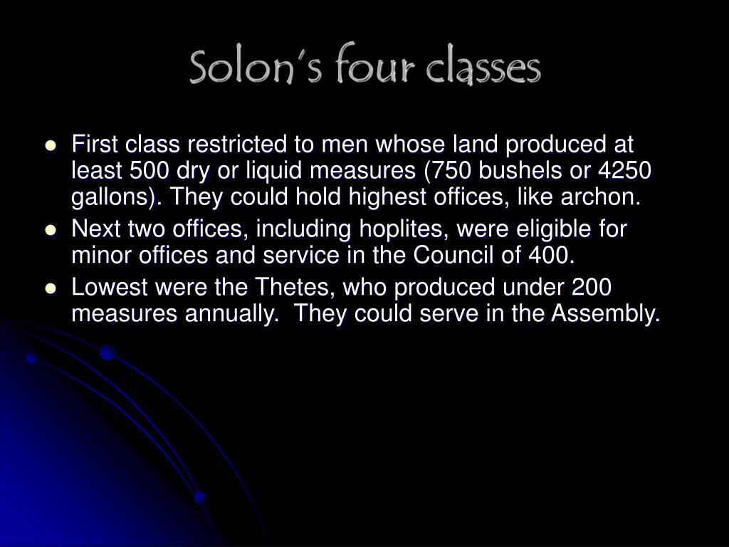 Solon's four classes