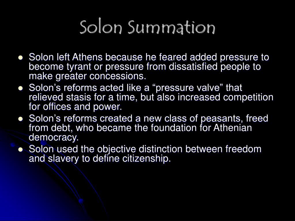 Solon Summation
