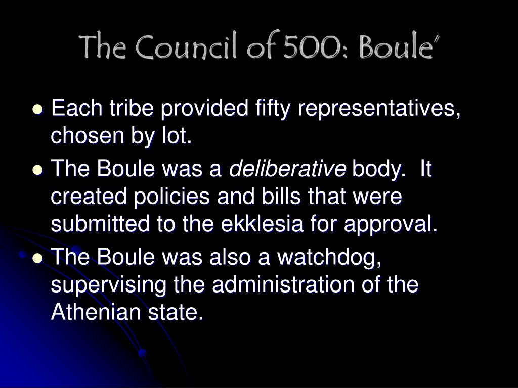 The Council of 500: Boule'