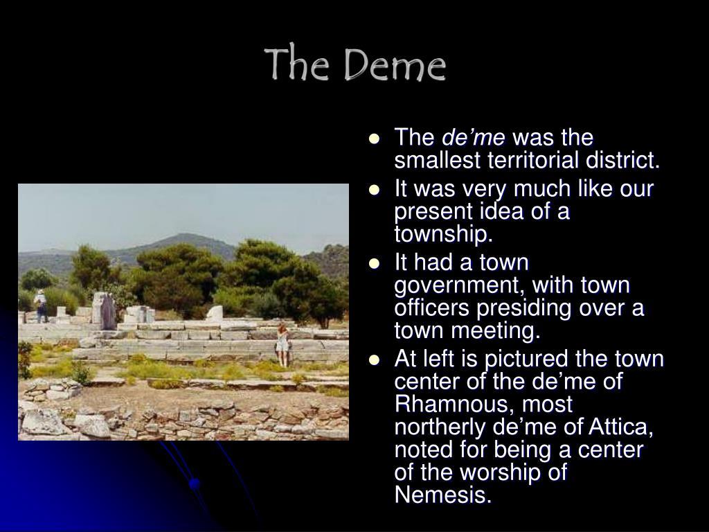 The Deme