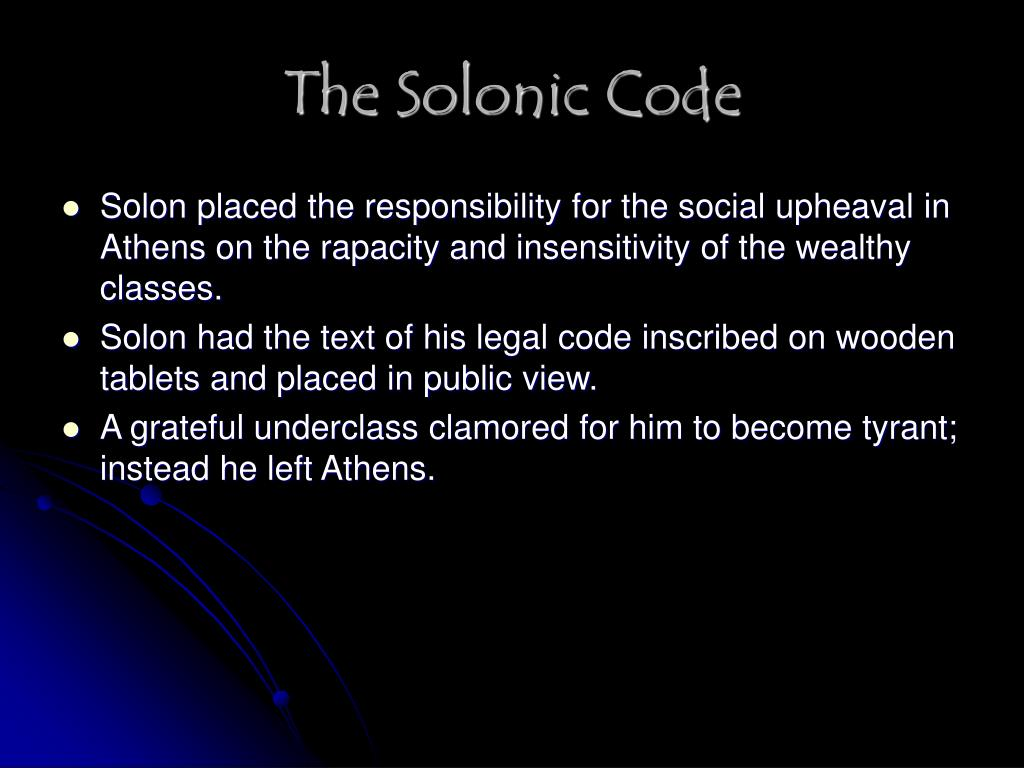 The Solonic Code