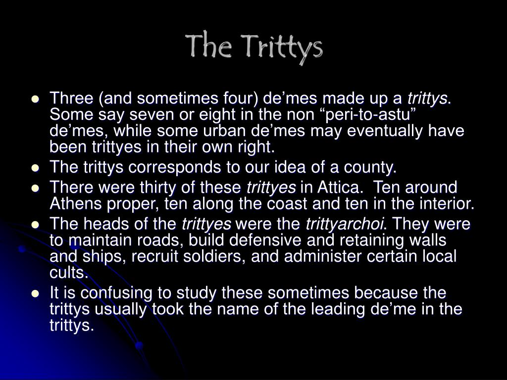 The Trittys