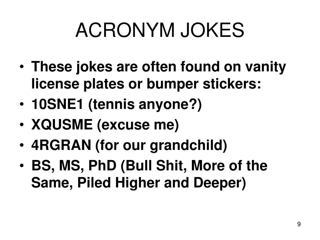 ACRONYM JOKES