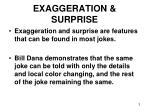 exaggeration surprise