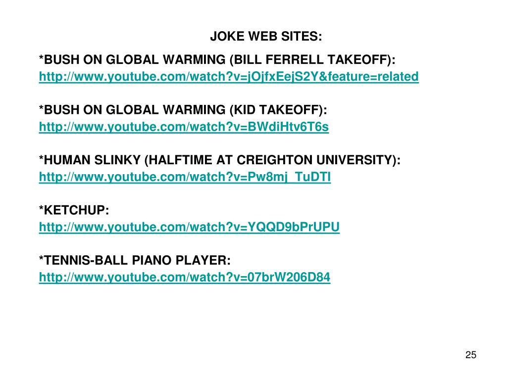 JOKE WEB SITES: