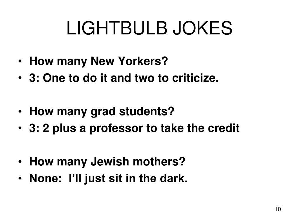LIGHTBULB JOKES