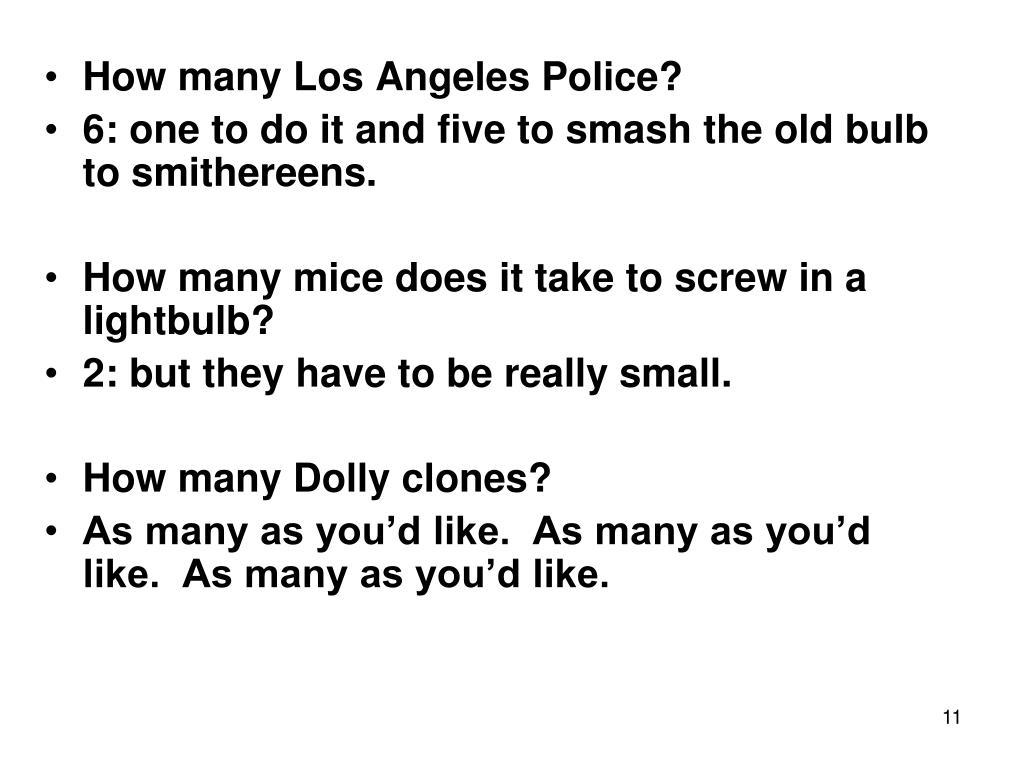 How many Los Angeles Police?