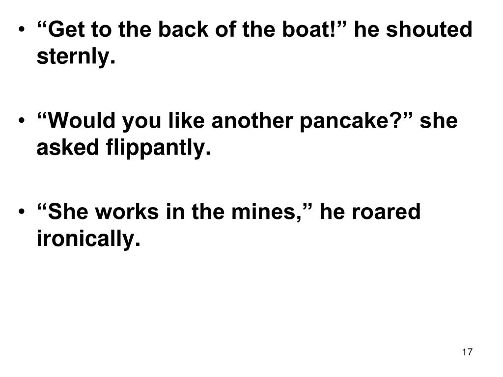 """""""Get to the back of the boat!"""" he shouted sternly."""
