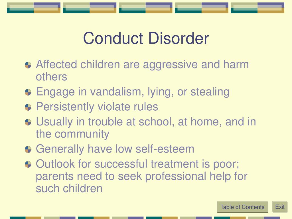 Conduct Disorder