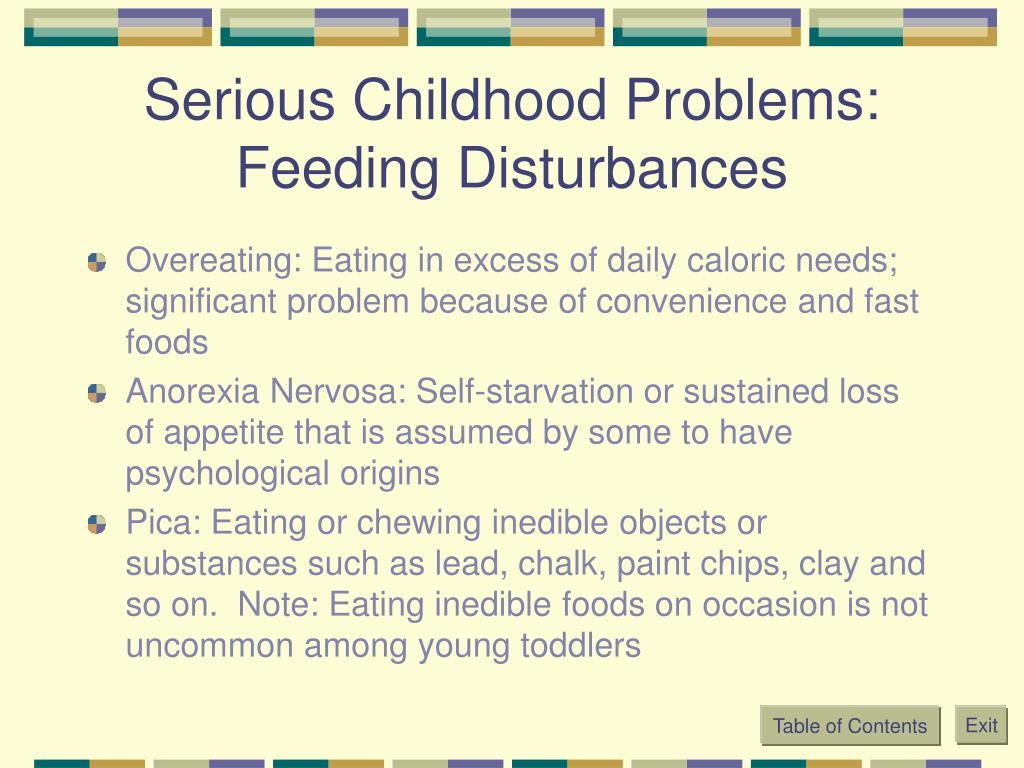 Serious Childhood Problems: Feeding Disturbances