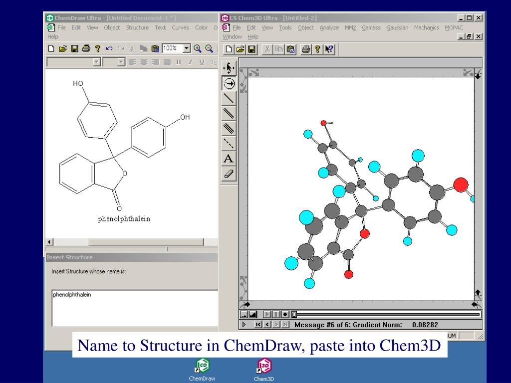 Name to Structure in ChemDraw, paste into Chem3D