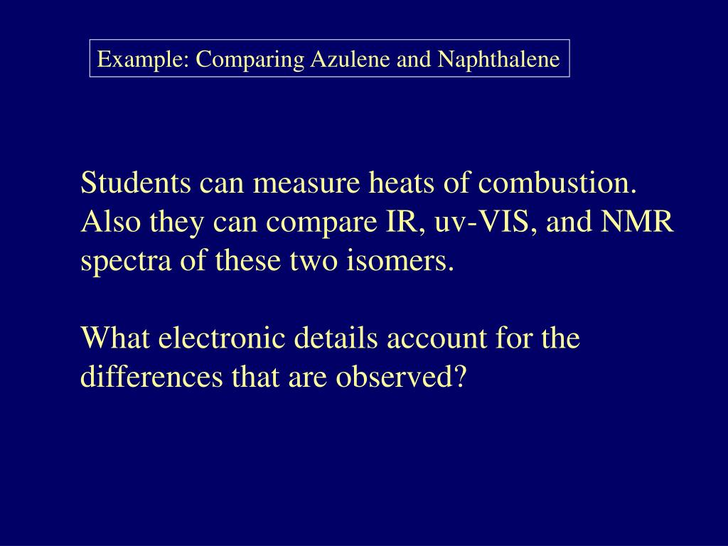 Example: Comparing Azulene and Naphthalene