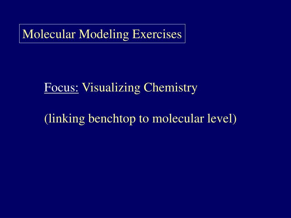 Molecular Modeling Exercises